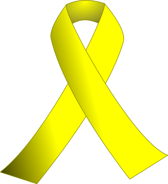 Support drawing yellow ribbon. W black background clip