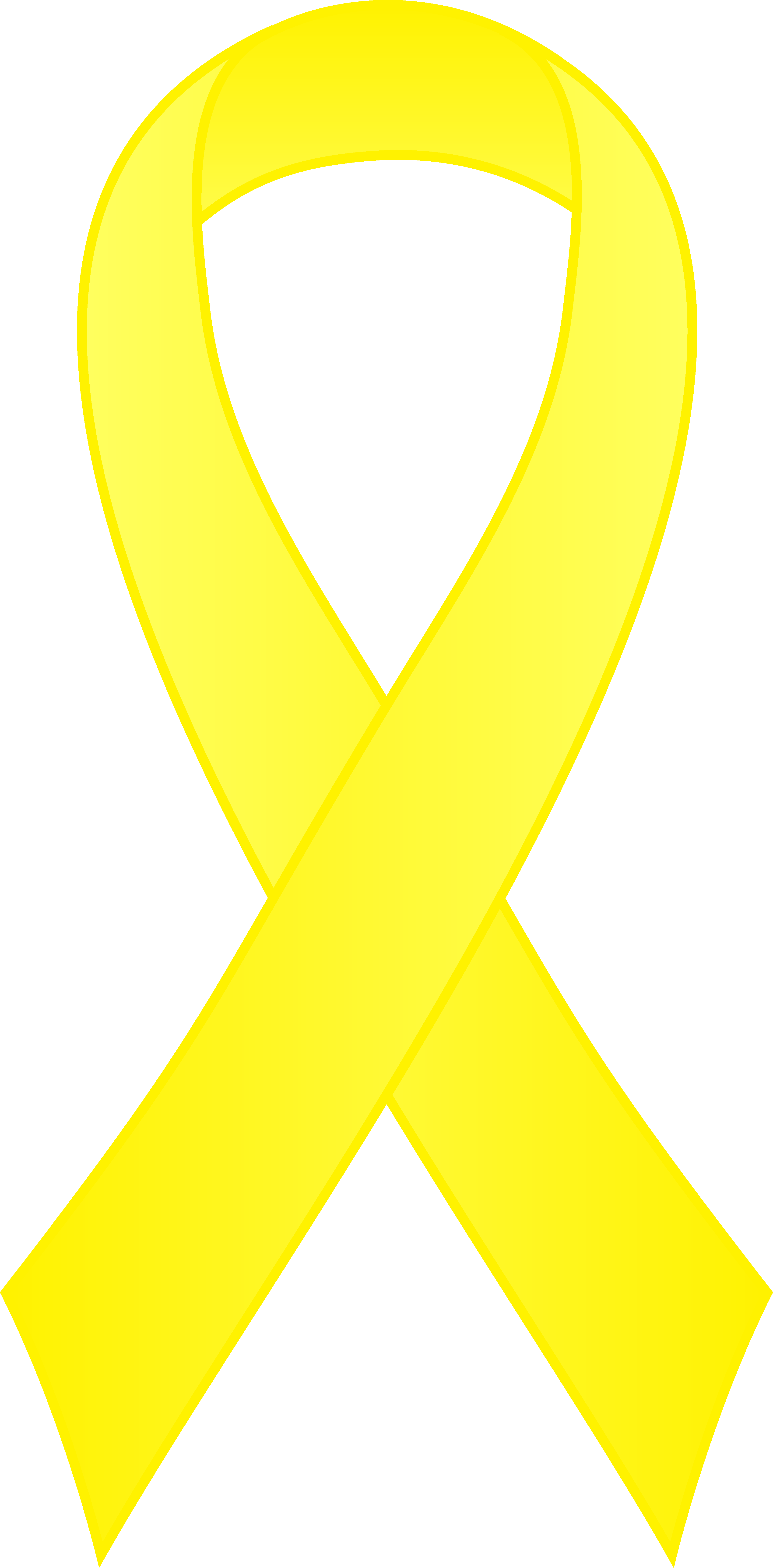 Support drawing yellow ribbon. Collection of clipart