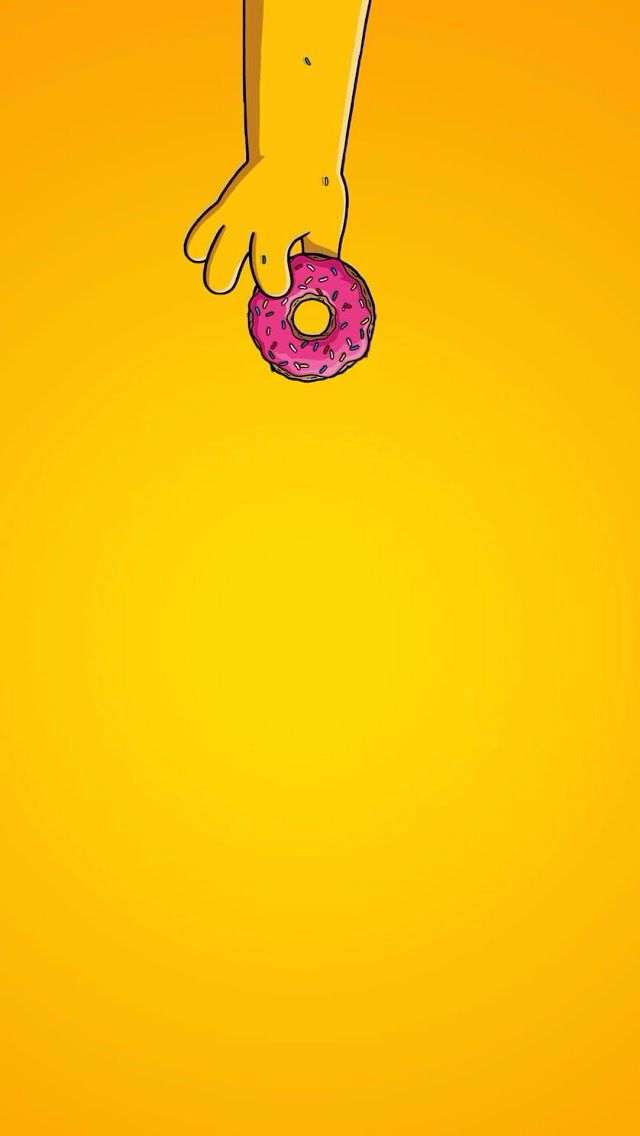 Supreme clipart home screen. Simple donut homer simpsons