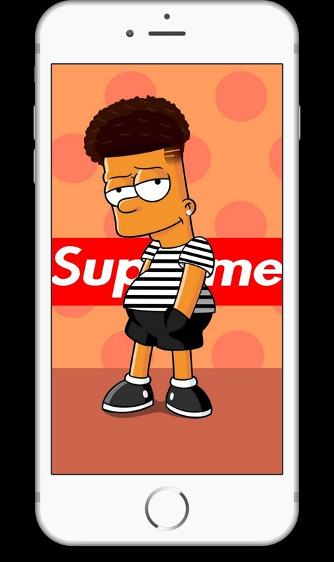 Supreme clipart home screen. Bart x wallpapers hd