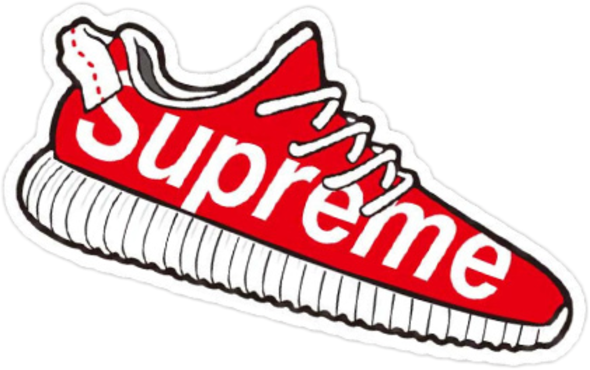 Yeezus drawing adidas yeezy. Supreme sticker transprent png