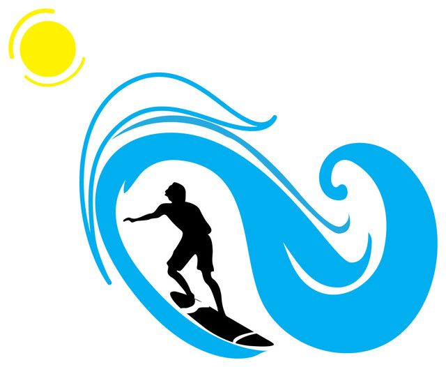 Surf clipart wave. Clipartfest beach themed kid