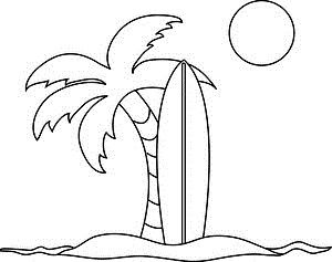Surfboard clipart beach drawing. The best relay for