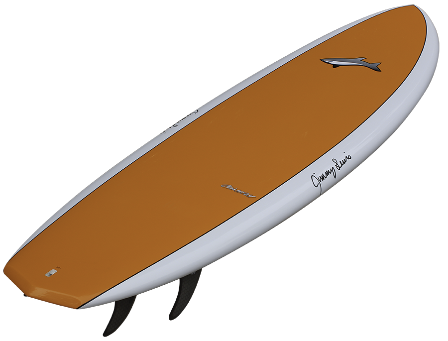 Surfboard clipart side view. Jimmy lewis surfboards canaryorangesiderearviewlee