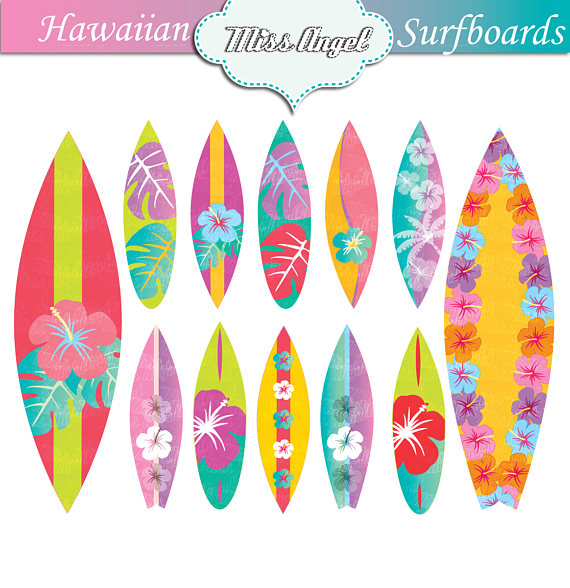 surfboard clipart surfboard hawaii