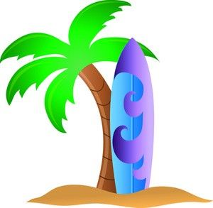 Surfboard clipart surfin. Tropical surfing surf pictures