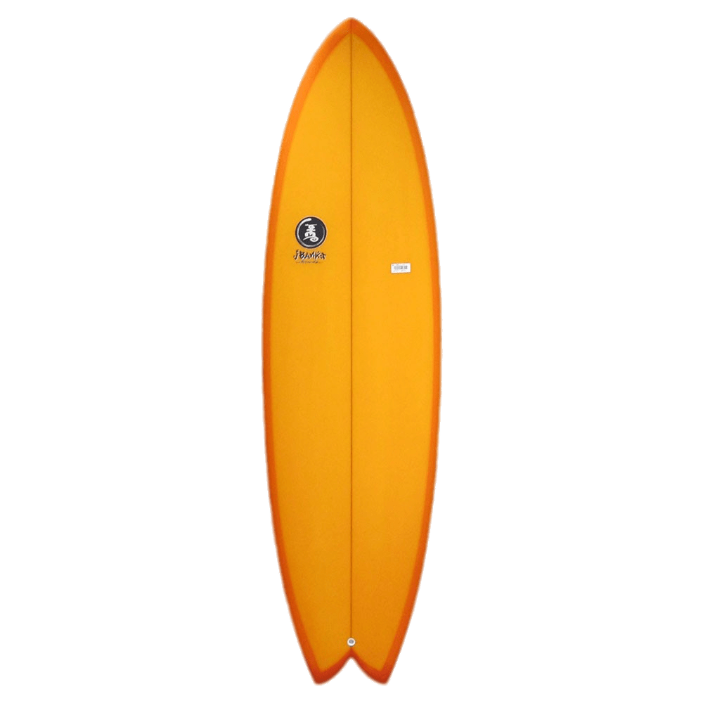 transparent surfboard tan