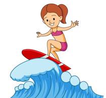 Surf clipart wave. Sports free surfing to