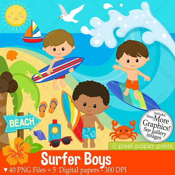 Surfer clipart baby. Boys clip art and