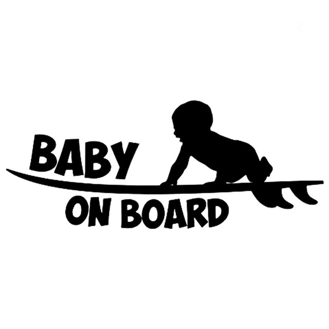 Surfer clipart baby. Cm on board