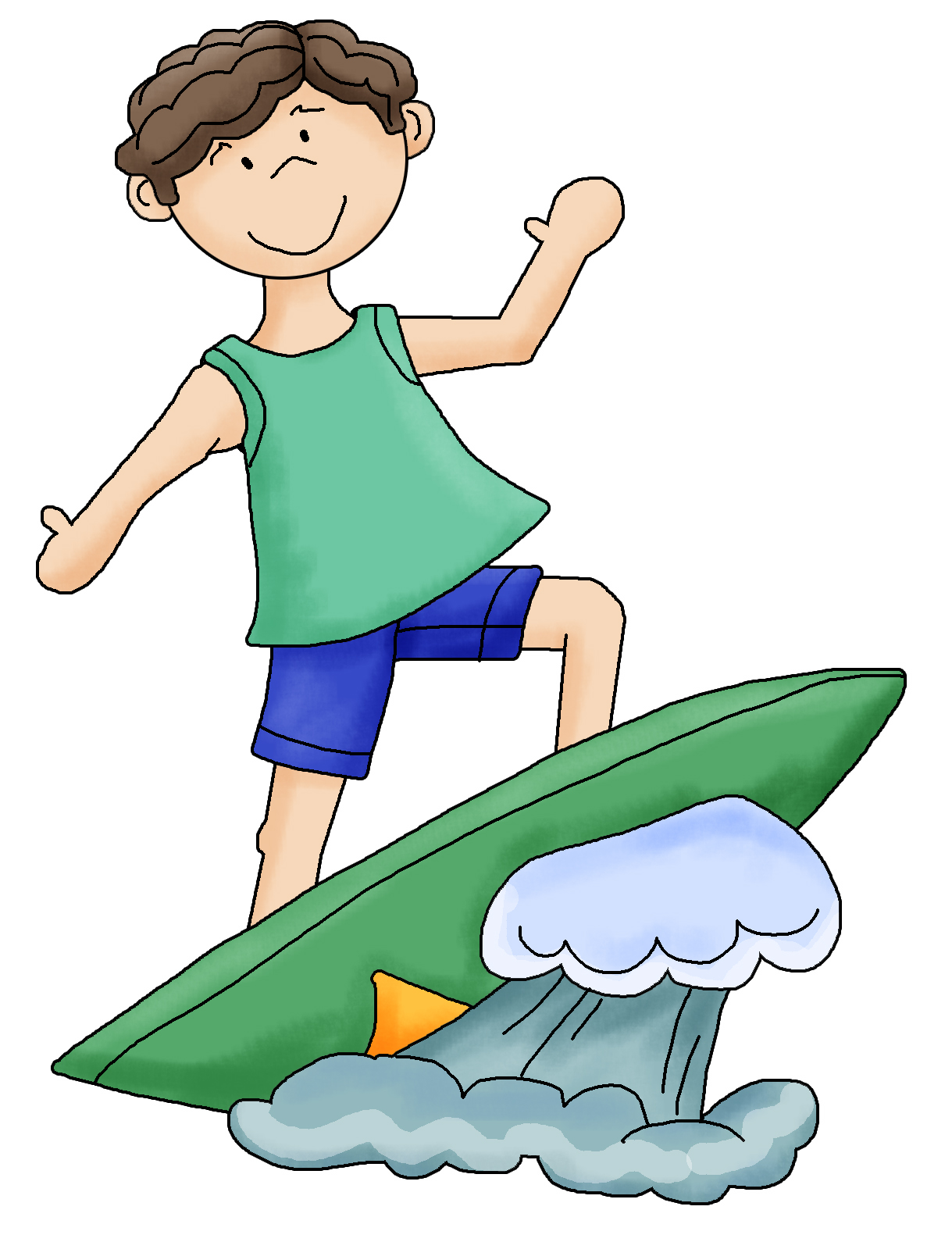 Surfer clipart transparent background. Boy