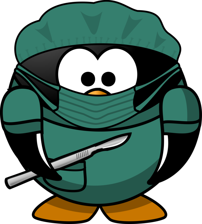 Surgeon clipart. Penguin foot and ankle