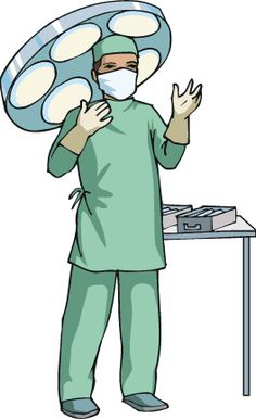 Surgeon clipart surgical assistant. Male holding operating tools
