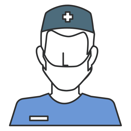 Surgeon drawing head. Avatar character icon icons