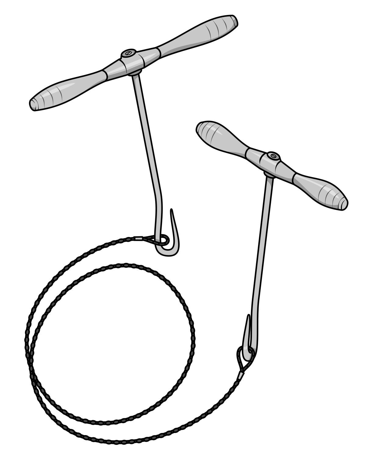 surgeon drawing surgical tool