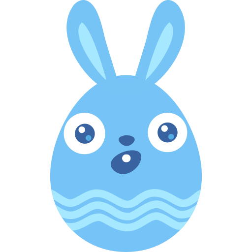 Surprised clipart bunny. Icon free of easter