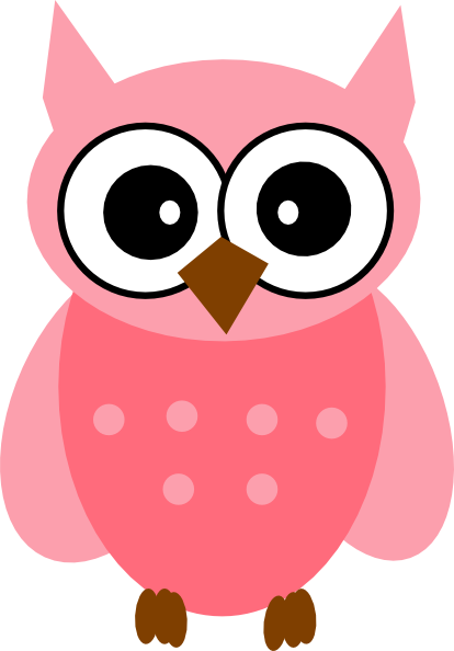 Surprised clipart owl. Pink clip art at
