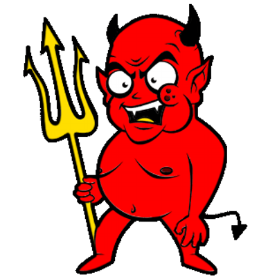 Lucifer beelzebub on surprised. Twitter clipart liberal clip black and white