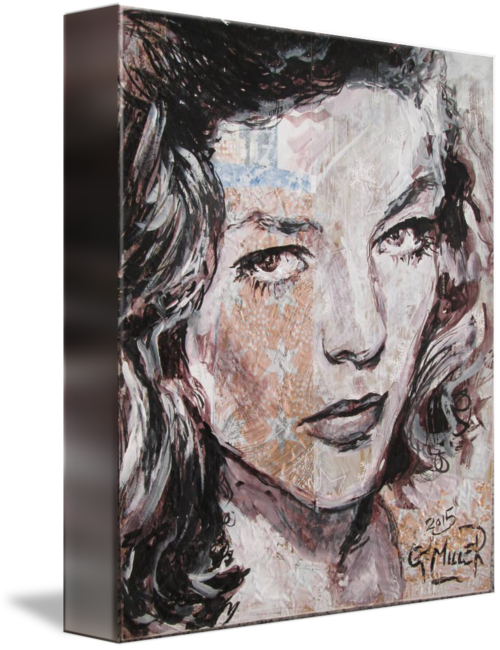 Surrealist drawing self portrait. Bacall by gerry miller