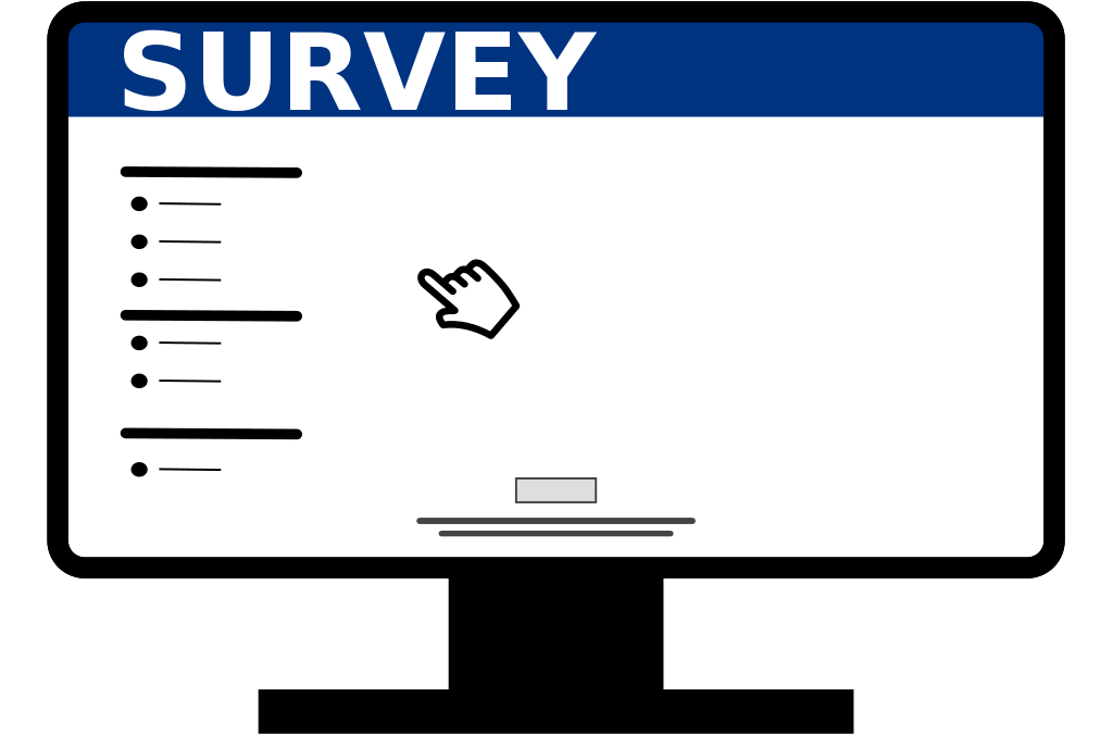 Survey clipart. News time task force