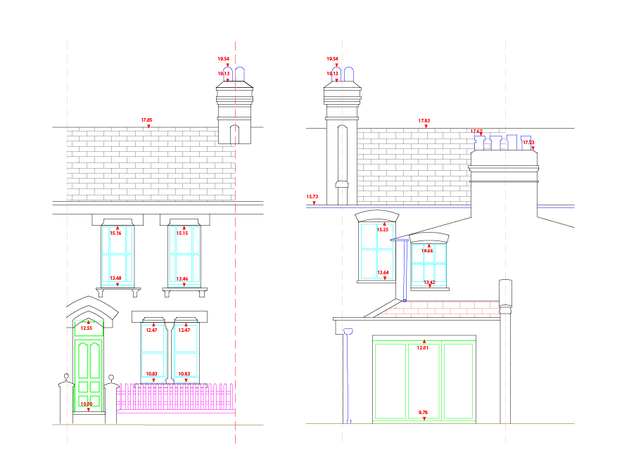 Survey drawing technical. Drawings and models site