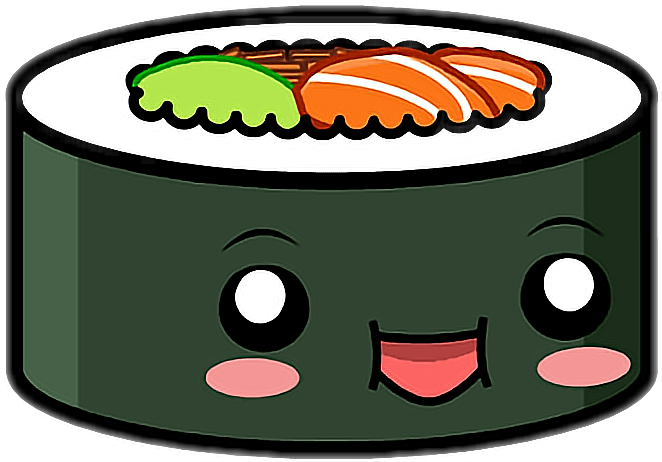 Cute sushi png. Sushistickers kawaii lol freetoedit