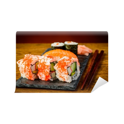 Sushi plate png. Wall mural pixers we