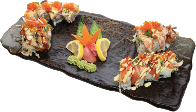 Sushi plate png. Chef special roll