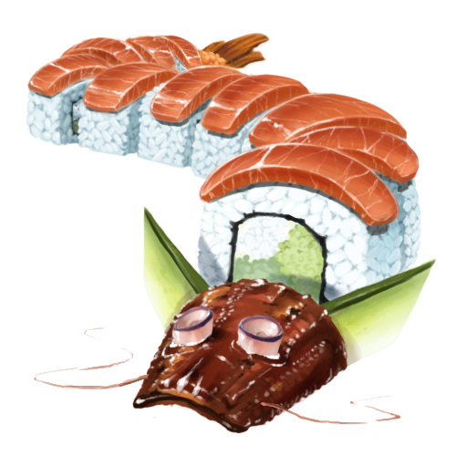 Sushi rolls png. Dragon roll crystals by