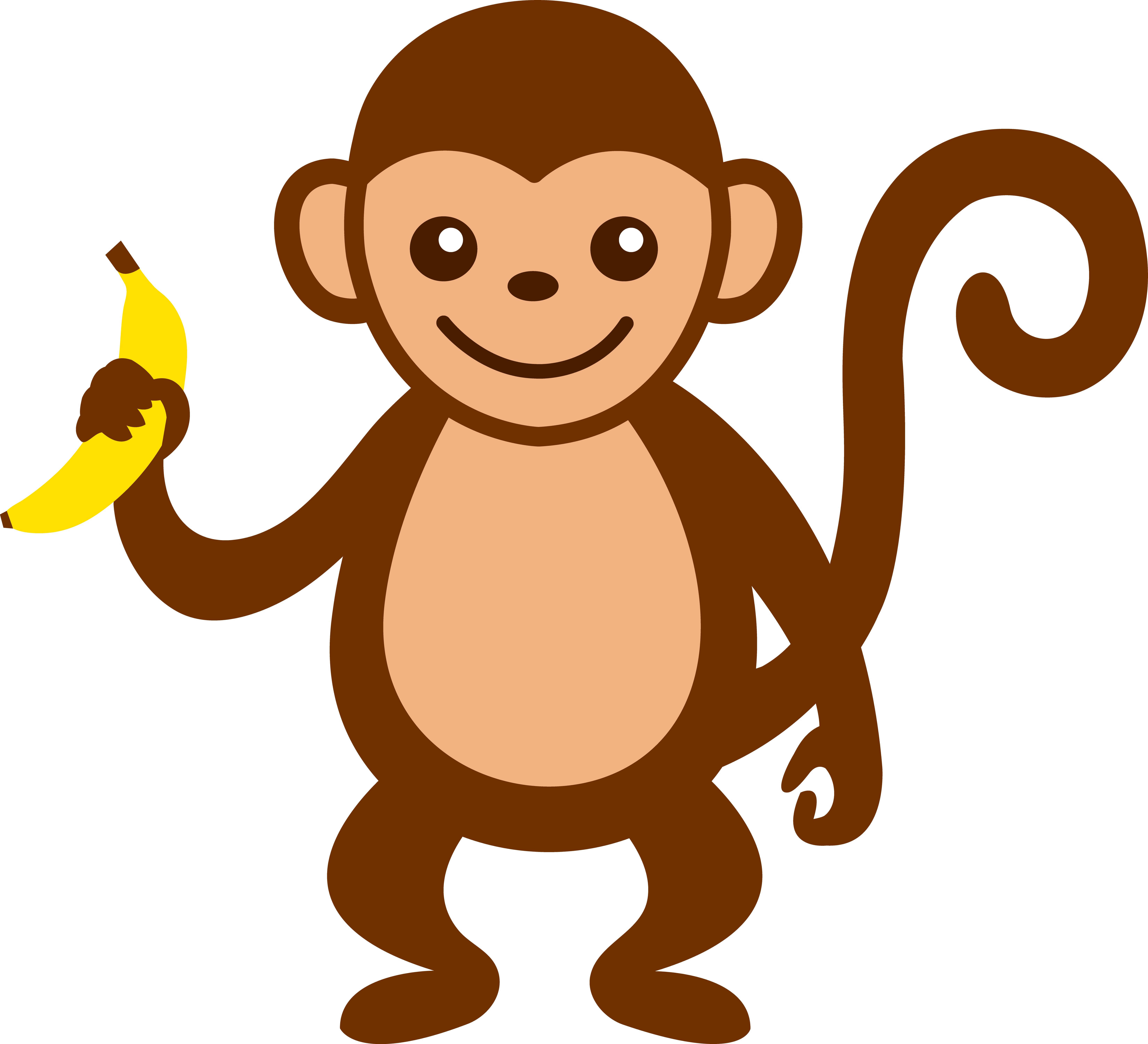 Suspension clip monkey. Cartoon art cute with