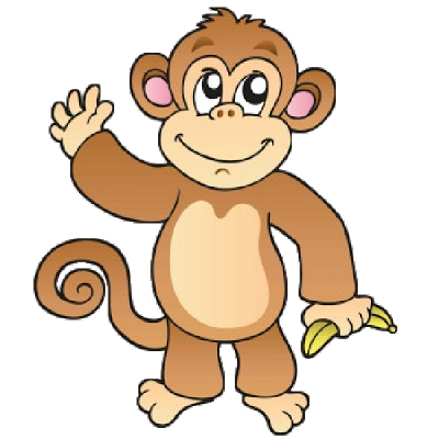 Suspension clip monkey. Funny baby pictures monkeys