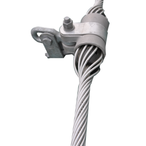 Suspensions clip aerial cable. Adss alloy suspension clamp