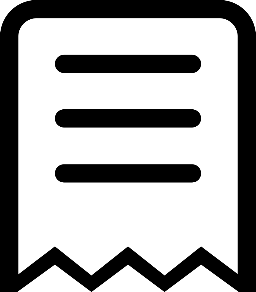Svg 76 am mrs. Receipt png icon free