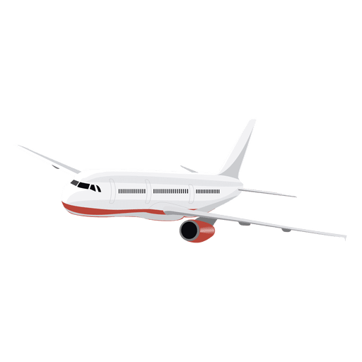 Aircraft vector infographic. Airplane in flight transparent