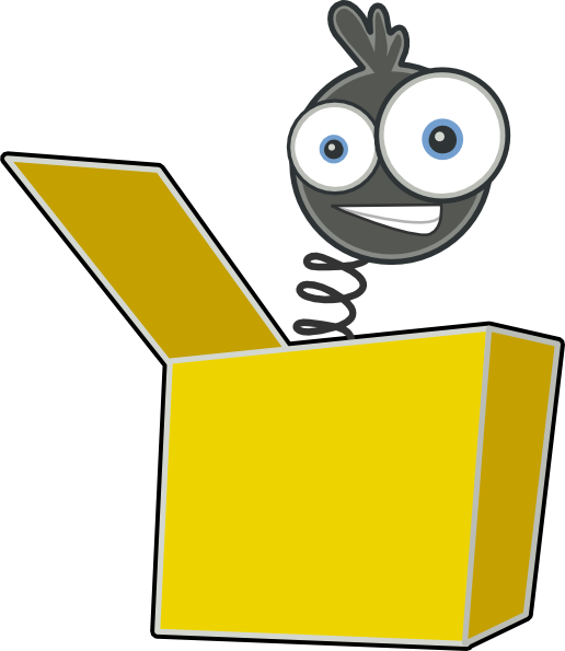 Svg box animated. Jack in the clip