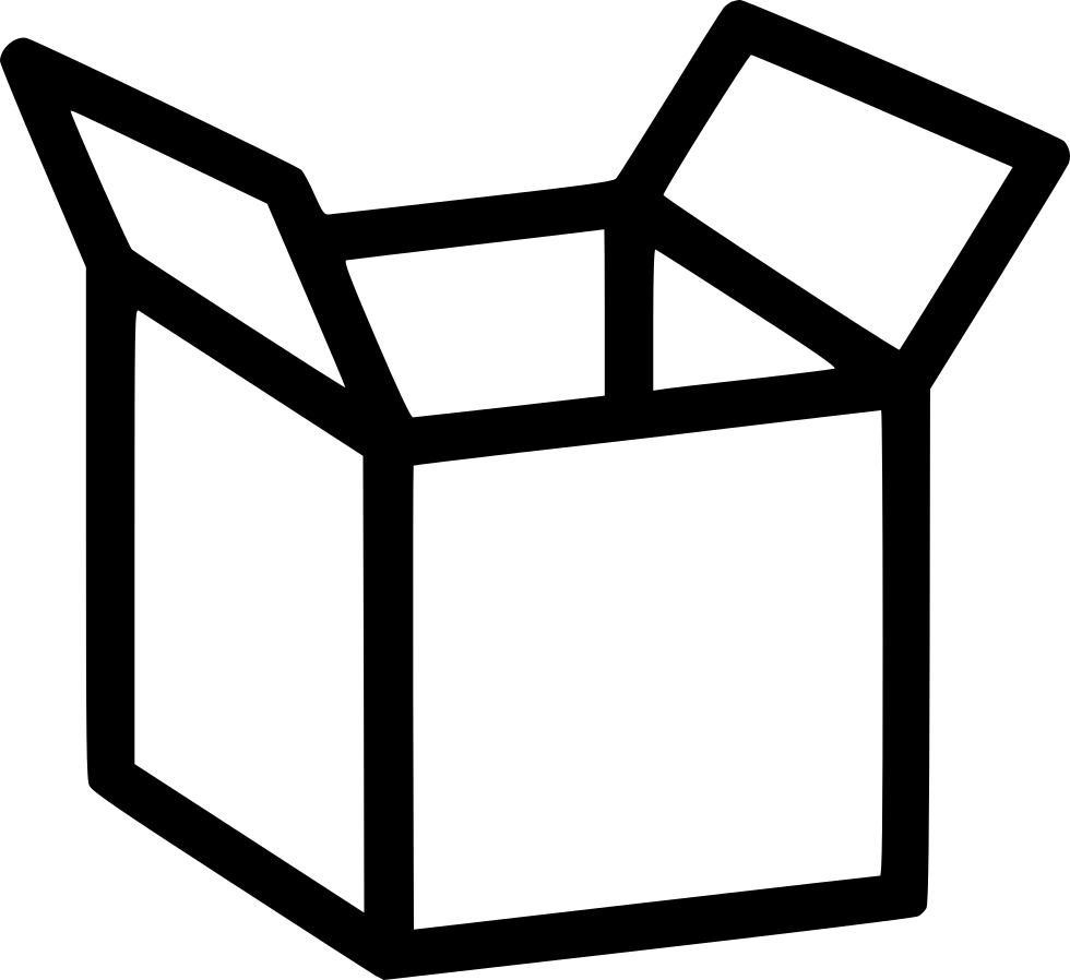 Svg box package. Open shipping delivery png