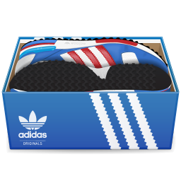 Svg box shoe. Adidas shoes in icon