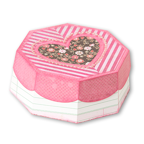 Free octagonal heart box. Svg boxes valentine graphic library library