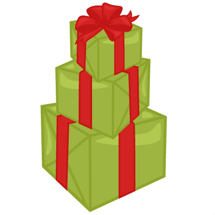 Svg boxes ornament. Stacked christmas presents cutting