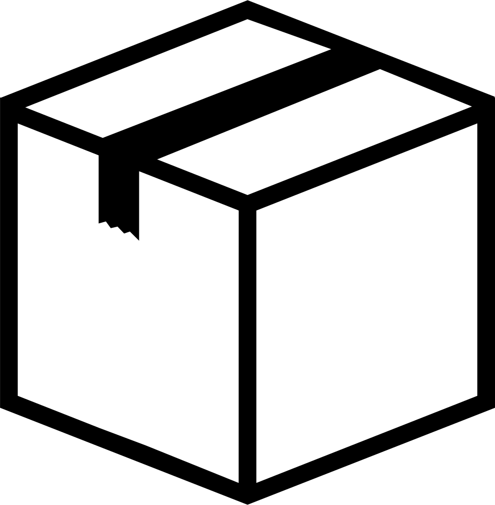 Box closed png icon. Svg boxes valentine svg black and white stock