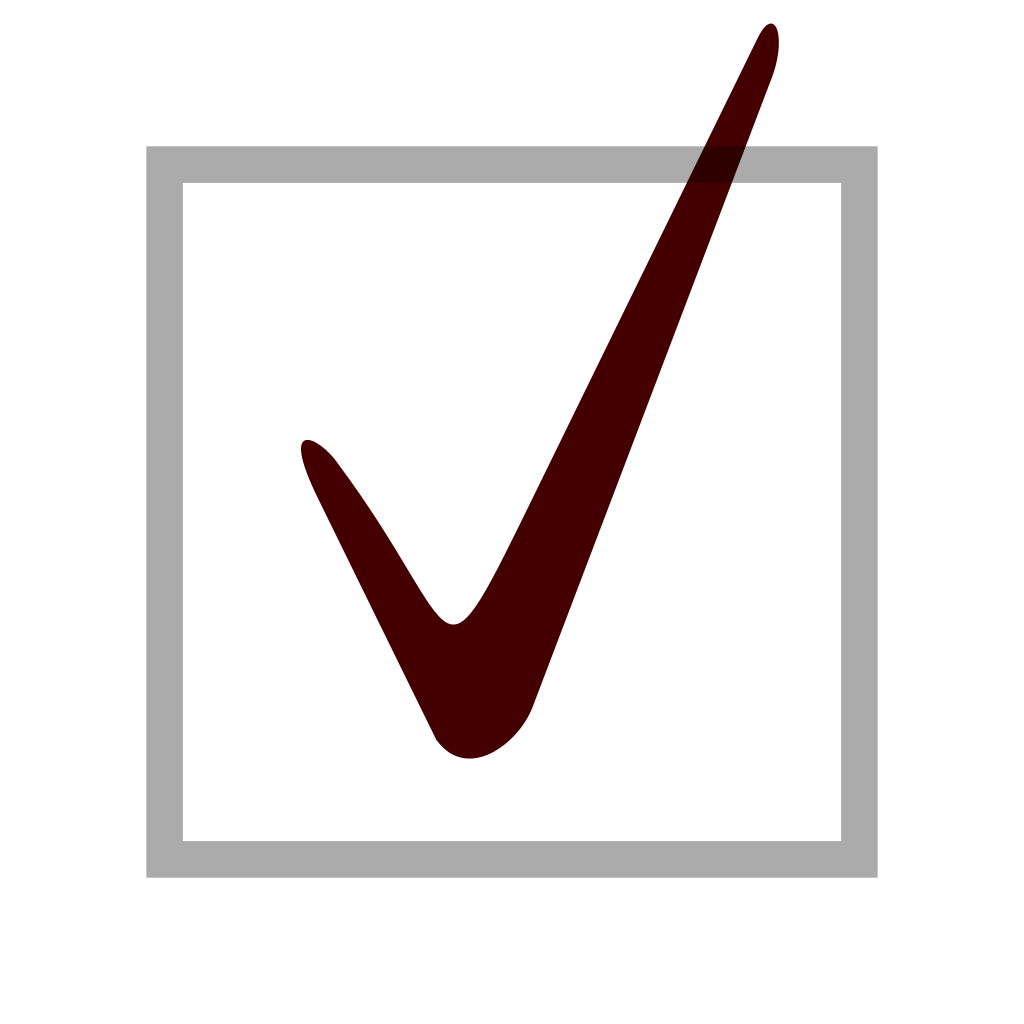 Svg checkmark blank background. Box with check mark