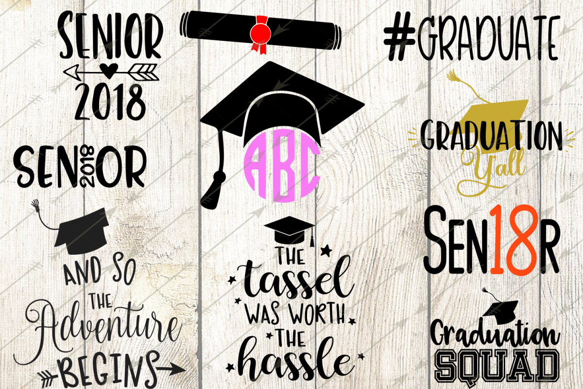 Svg class 2018. Graduation bundle design
