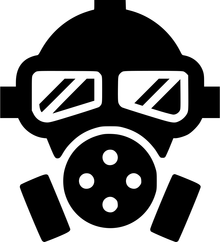 Svg clipping png. Gas mask poison toxic