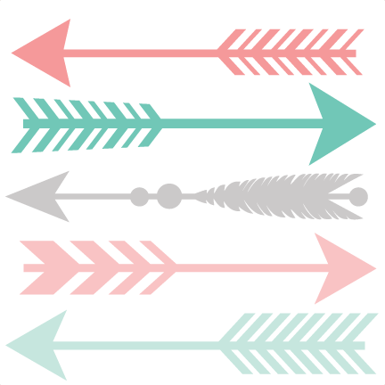 Svg design arrow. Set scrapbook cut file