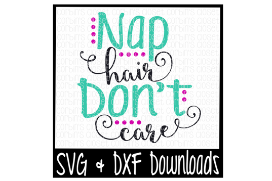 Svg design embroidery. Nap hair don t