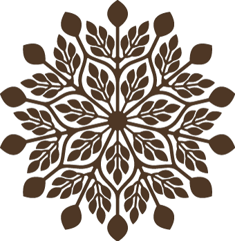 Stencil svg doily. Free geometric leaves cutting