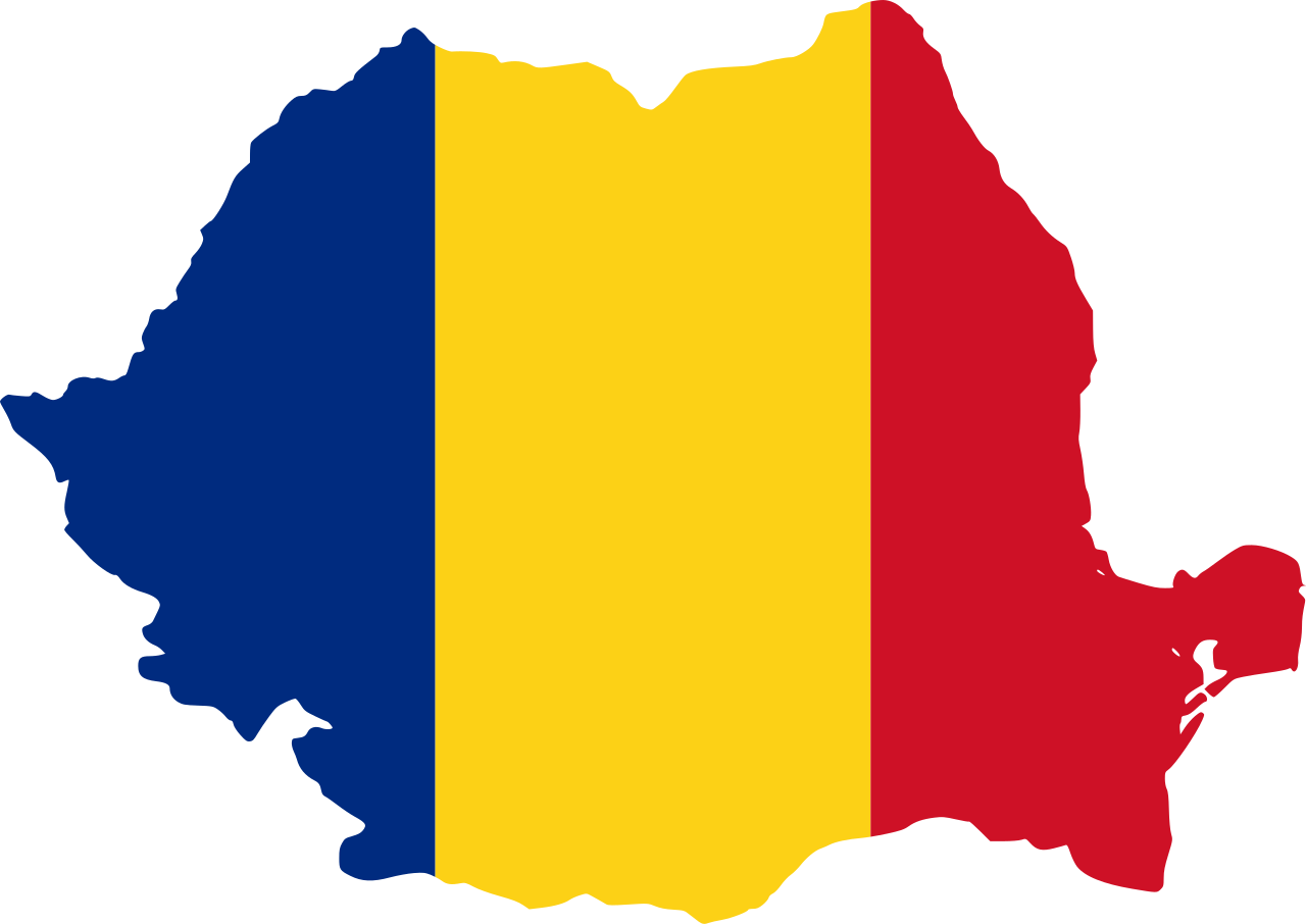 Svg flag. File map of romania