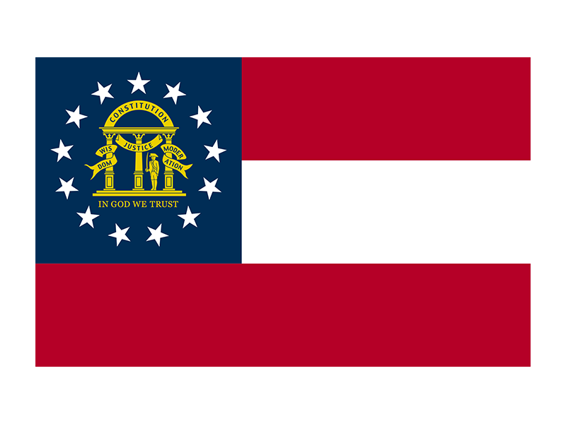 Svg flags georgia flag state. Png vector freebie supply