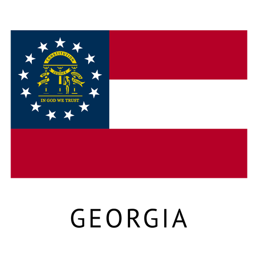 Svg flags georgia flag state. Transparent png vector