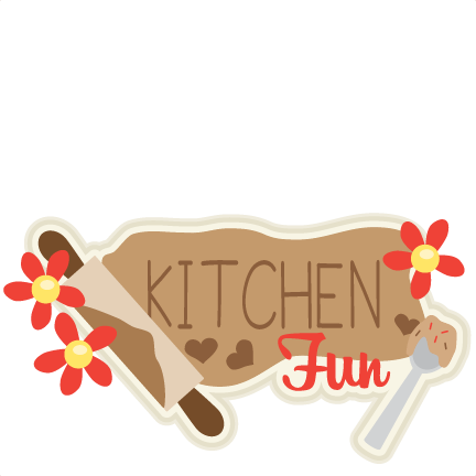 Svg freebies silhouette. Kitchen fun title scrapbook